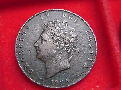 1826 George 1V  Halfpenny From My Collection [J42]