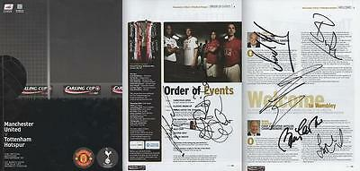 Signed 2009 Carling Cup Final Programme Man Utd v Spurs (1025)