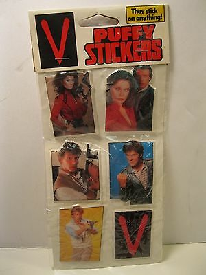V The Visitors Tv Show Puffy Stickers 1984 Warner Brothers Sealed Mint