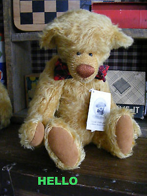 "Too Cute Butterscotch Mohair 16""- ""elmer"" By Linda Fulmer For Bebe Bears"
