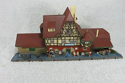 Oo Ho Gauge Detailed Vollmer Station & People  4 Train Set Model Railway Layout