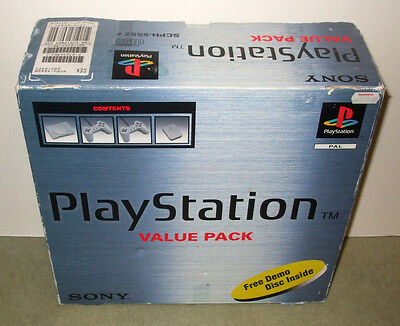 Sony Playstation 1 SCPH-5552 Grey Console Boxed - Value Pack