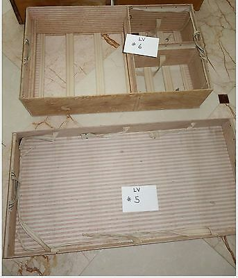 Antique French Louis Vuitton 2 Piece Steamer Trunk Tray Inserts