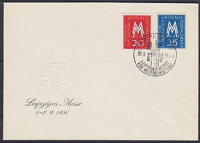 DDR FDC 596 - 597 mit SST Leipzig Messe 30.08.1957 , frist day cover