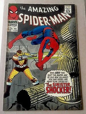 Amazing Spiderman 46 - Higher Grade - 1967 1st appearance of Shocker