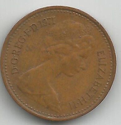 1971 Uk Half New Penny Coin Circulated Condition, First Issue Of Decimal 1/2P