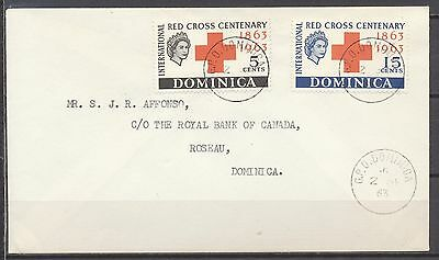 Red Cross - Fdc G.p.o. Dominica 2.sp.1963                   T371
