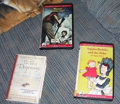 Lot of 5 Children's Audio  Books on Cassette