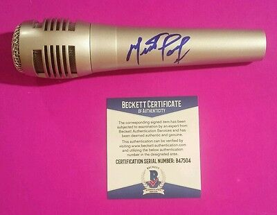 Meatloaf Authentic Signed Pro Microphone With Photo Proof And Bas Beckett Coa