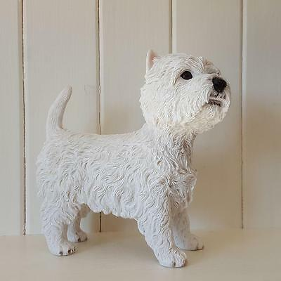 West Highland White Terrier dog ornament figurine Westie gift boxed perfect gift