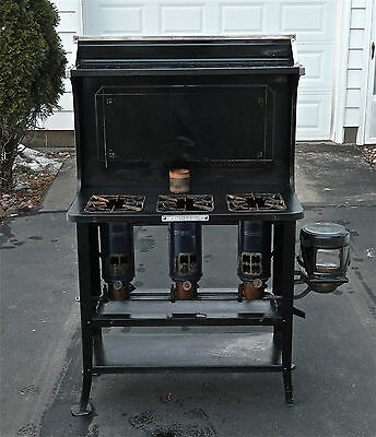 "Antique Kerosene ""New Perfection 78"", 3-Burner Black Cook Stove - Excellent!"