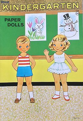 KINDERGARTEN Paper Dolls Book, 1958, Uncut, Vintage, 6 Pages of Clothes