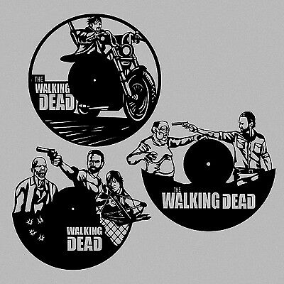 DXF CDR and EPS File For CNC Plasma or Laser Cut - Walking Dead Clocks