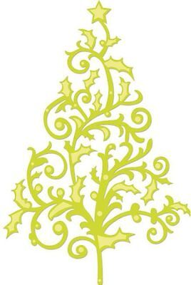 "Kaisercraft Metal Die Cut Flourish Christmas Tree Approximately 4""x6"""