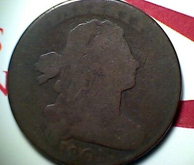 1801 3 Errors Large Cent , Nice Color & Planchet, Scarce