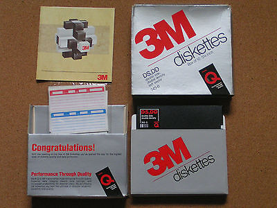 3M DS,DD 10 x Double Sided High Density Diskettes Unused Still in Box Ref 745-0