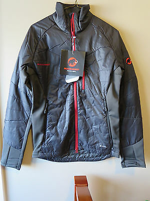 Mens New Mammut Foraker Advanced IN Jacket Size Small Color Black-Graphite