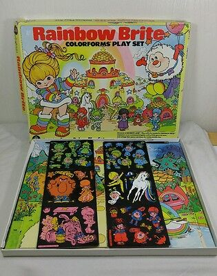 VINTAGE Rainbow Bright Colorforms Super Deluxe Play Set 1983 RARE