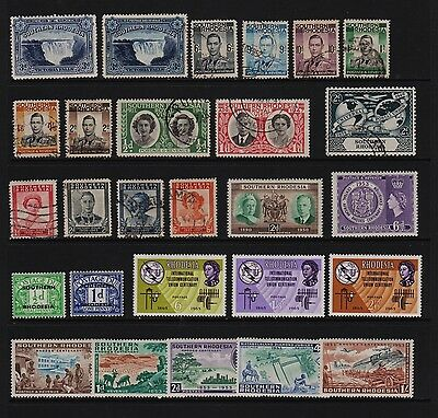 Southern Rhodesia - 27 stamps, cat. $ 36.70