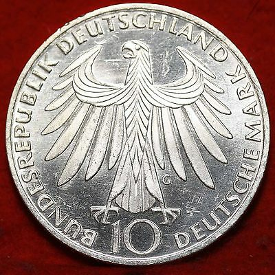 Uncirculated 1972  Germany 10 Mark Foreign Silver Coin Free S/H