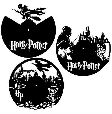 DXF CDR and EPS File For CNC Plasma or Laser Cut - Harry Potter Clocks