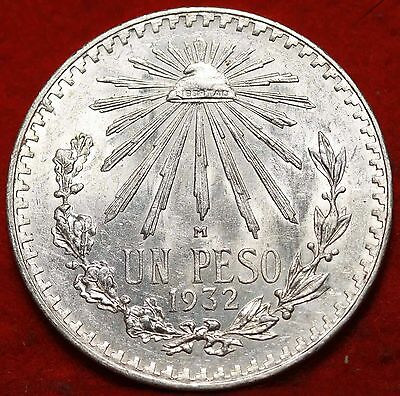 1932 Mexico Peso Silver Foreign Coin Free S/H