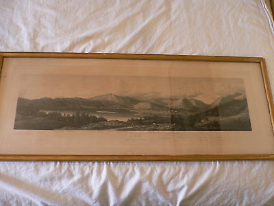 Large Antique Etching. W. Westall. A. Akermann 1832. The Vale of Grasmere.