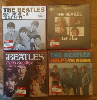 "complete set of The Beatles 7"" vinyl & large T-Shirts Target 2011 new in boxes"