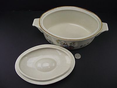 Oval  Covered Vegetable Bowl Or Serving Dish Lid International China Heartland