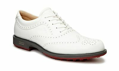 ECCO 2017 Mens Tour Hybrid Wing Tip White Brick Waterproof Leather Golf Shoes
