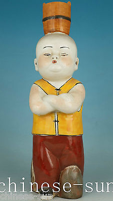 12 inch high Asian Chinese porcelain kungfu child Statue Figure Decoration