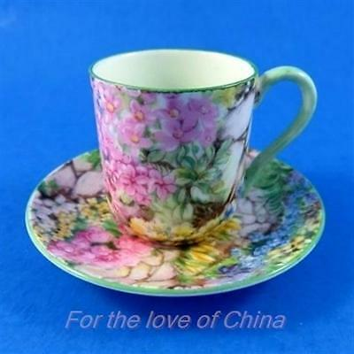 Chintz Rock Garden Shelley Miniature Tea Cup and Saucer Set