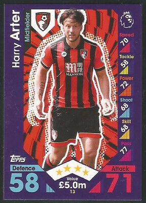 2016 / 2017 Topps EPL Match Attax card #13 Harry Arter - AFC Bournemouth