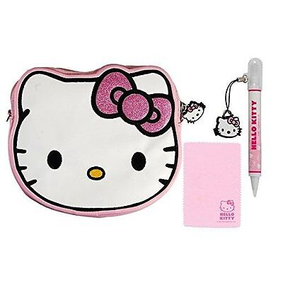 Hello Kitty Travel Set 4 In 1 With Hello Kitty Face Case(for Nintendo DS/3DS)