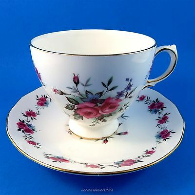 Pretty Roses Queen Anne Tea Cup and Saucer Set
