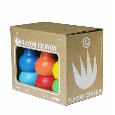 Two x Playon Crayons Packs - 1 x PASTEL & 1 x PRIMARY Colours - 2 x 12 Per Box