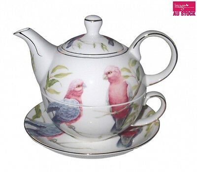 Galah Tea For One 300cc Cup 350cc Teapot Home Collection Gift CW722G