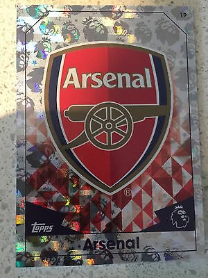 2016 / 2017 Topps Match Attax Arsenal Club Emblem / Stats Foil card