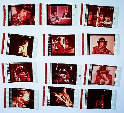Jimi Hendrix  - 12  pack - 35mm Film Cell Lot FREE POSTAGE