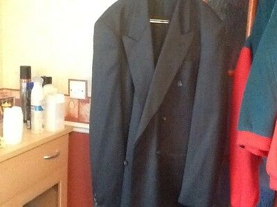 Vintage 1980s Double Breasted C & A Suit Charcoal