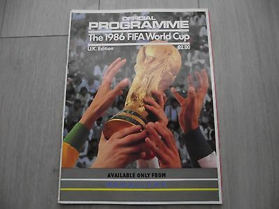 1986  FIFA World Cup Official Programme - U,K, Edition