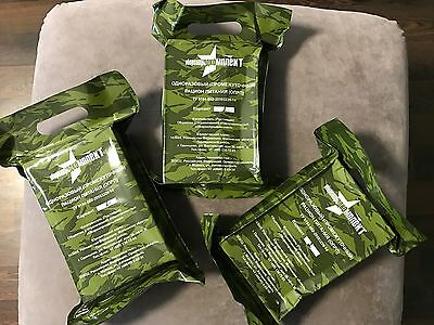 3x REAL RUSSIAN MRE ARMY MILITARY FOOD MEAL RATION READY TO EAT PACK 4,62lb BEST