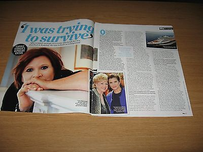 CARRIE FISHER - 2 page magazine clipping