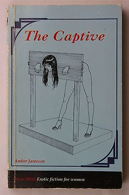 The Captive Amber Jameson 1995 Vintage UK 1st Ed PB Book Erotica Silver Moon