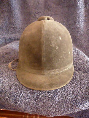 CHOPLIN made in France OLD Horse Adults Riding Hat Velvet CAPPELLO CAVALLERIZZA