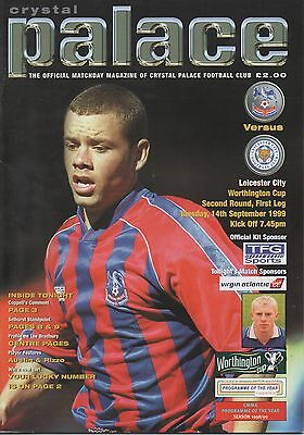 CRYSTAL PALACE v LEICESTER CITY 14.09.99 WORTHINGTON CUP