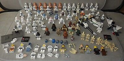 75+ Lego STAR WARS Mini Figure Massive Bundle / Job Lot - Stormtrooper, R2D2 etc