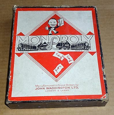 SELECTION OF REPLACEMENT SPARES FOR VINTAGE 1950s MONOPOLY BOARD GAME