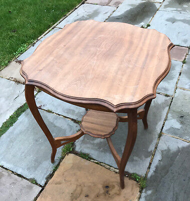 Antique side table, Edwardian? (or late Victorian) Hard wood.