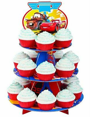 "Disney Pixar Cars 12""X16.25"" Holds 24 Cupcakes - Treat Stand Wilton"